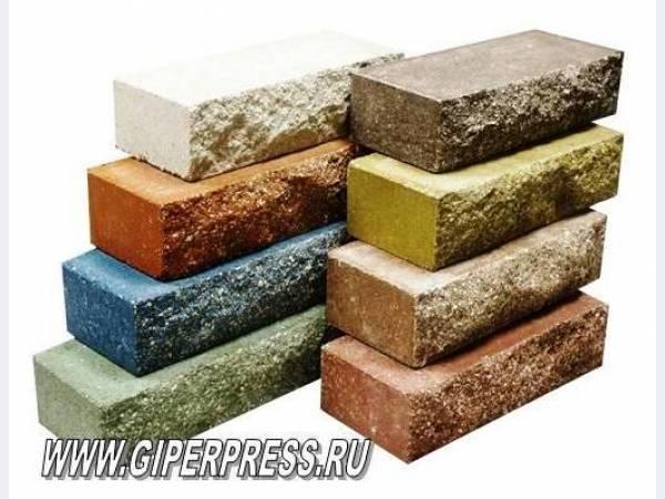 Лицевой кирпич - цветной сверхпрочный, производства кирпичного завода...