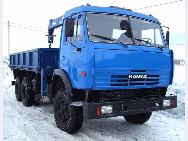КамАЗ 45143 самосвал с/х с манипулятором Тадано г/п 3т.
