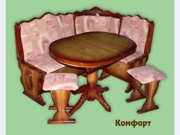 кухонный уголок со столом и стульями казань