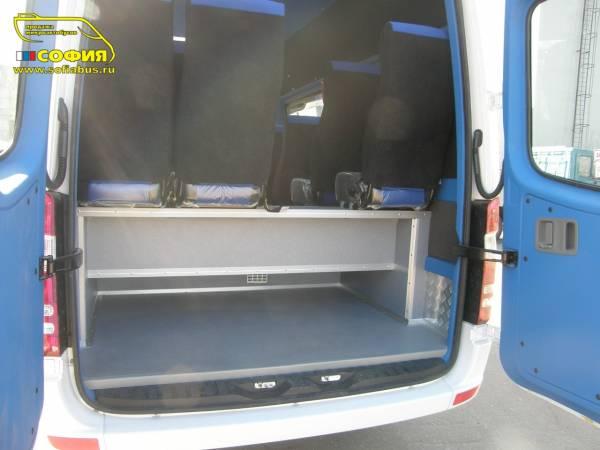 Отделка салона микроавтобуса потолок
