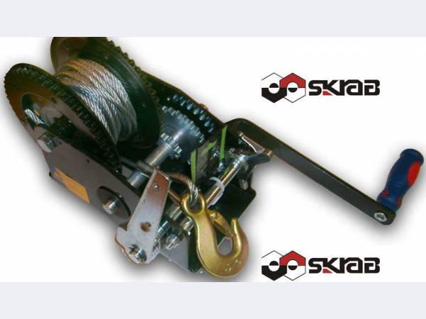 Лебедка ручная барабанная (тросовая) 1454кг SKRAB