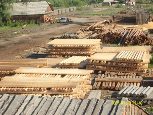 производство и продажа, оцилиндрованного бревна из ангарской сосны, лиственницы, кедра диаметром от 180 до 280мм...