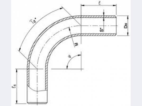 Отвод крутоизогнутый 45 гр ОСТ 108.321.15-82