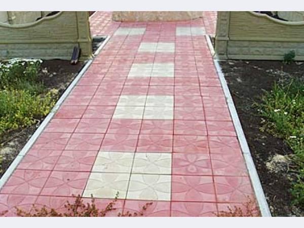 Тротуарная плитка Квадрат 250х250х25  (вибролитьевая)