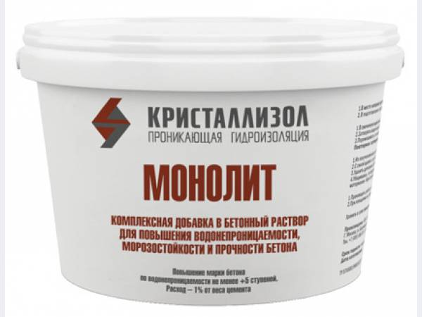 Кристаллизол Монолит-добавка.