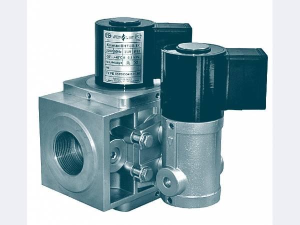 Клапан электромагнитный ВН2Н-1П двухпозиционный фланцевый с датчиком положения