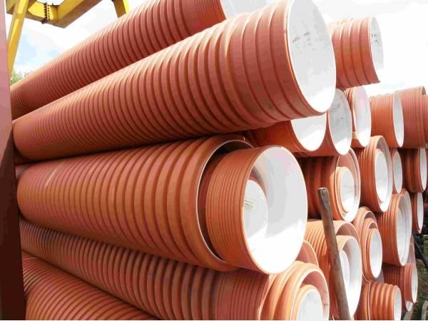 Трубы полипропиленовые гофрированные для наружной и ливневой канализац