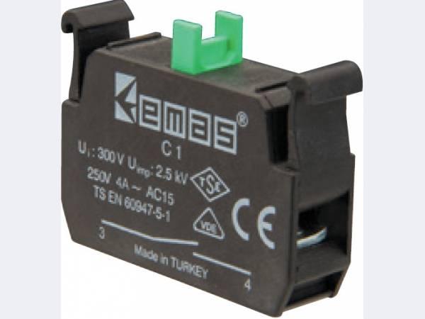 Блок-контакты к кнопкам СР/СМ и пультам управления EMAS, сменные блоки