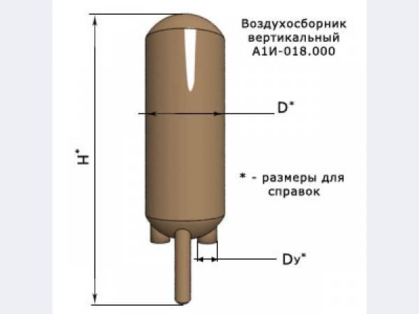 Воздухосборник вертикальный и горизонтальный с плоским и элептическим