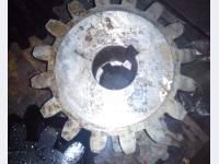 Шестерня коническая, вал приводной в сборе на КМД 1200, КСД 1200