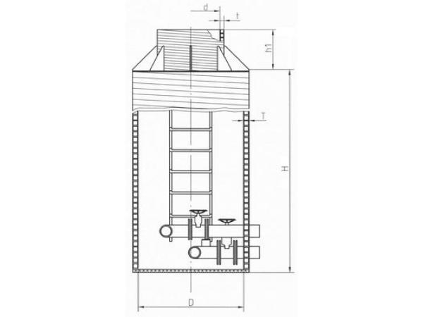 Стационарные канализационные стальные лестницы-стремянки