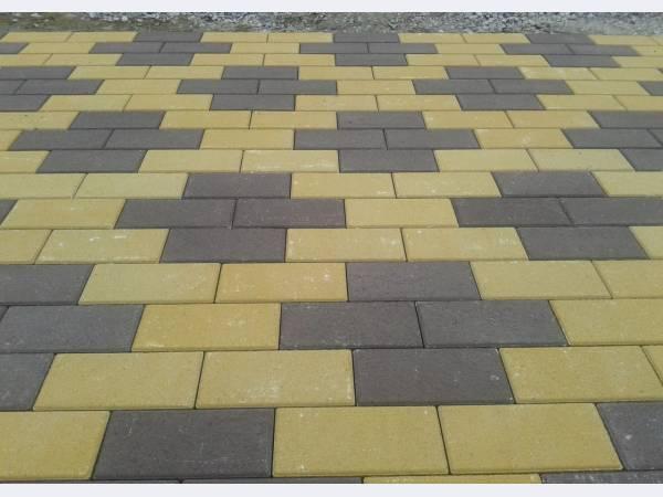 Тротуарная плитка, укладка от производителя.