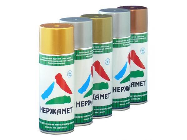 Нержамет-аэрозоль - металлизированная аэрозольная краска для металла
