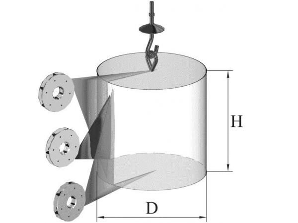 Дробеметная камерная установка с подвесками