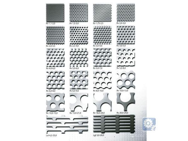 Перфорированный лист Rv 5-8 -1000x2000x1 мм