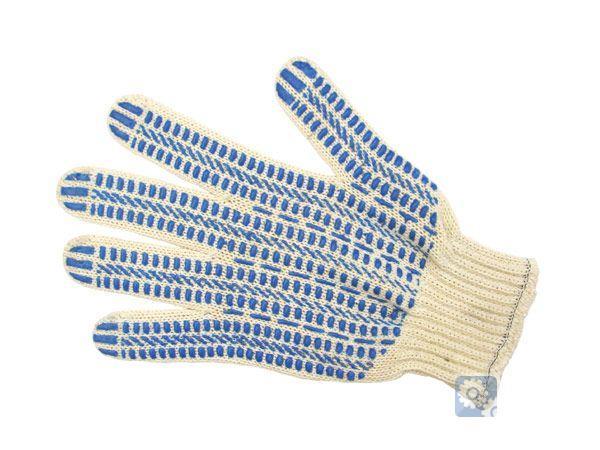 Перчатки хозяйственные хб, 7,5 класс, 5-нитка.