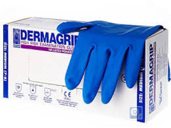 Перчатки  латексные неопудренные повышенной прочности DERMAGRIP HIGH R