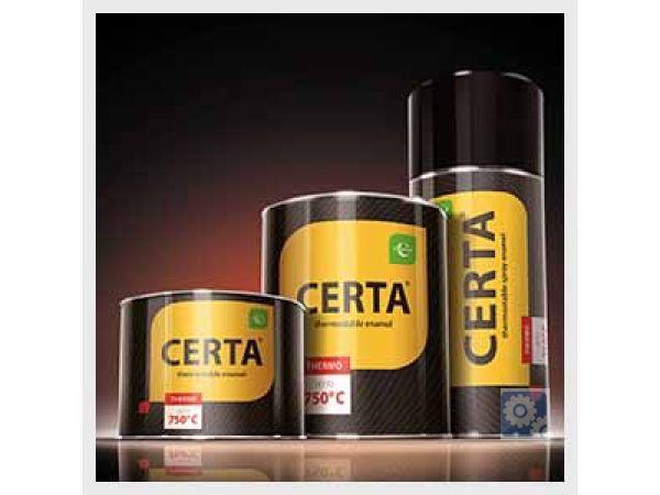 Краска термостойкая антикоррозионная «CERTA®». Термостойкость до +750°