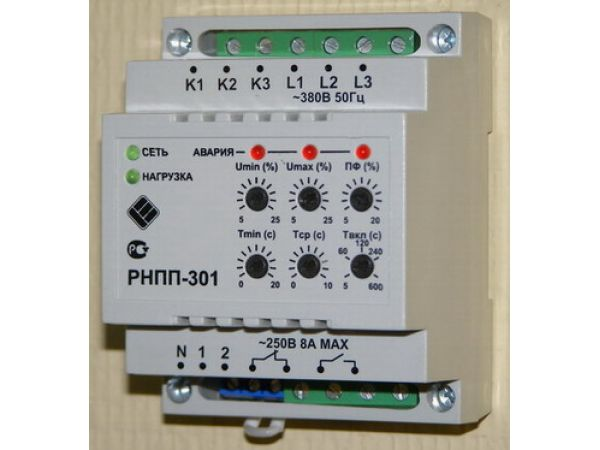 Реле напряжения и перекоса фаз РНПП-301 напрямую от производителя