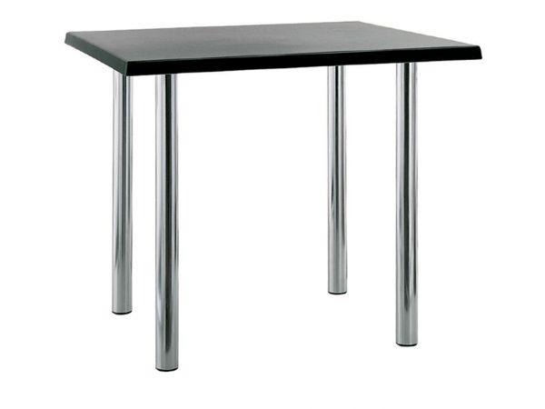 Обеденные столы на хромированных ногах