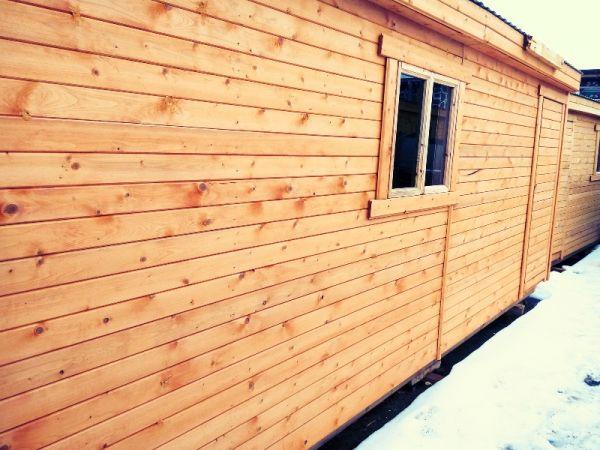 Супер-большая деревянная бытовка  длиной 7 метров