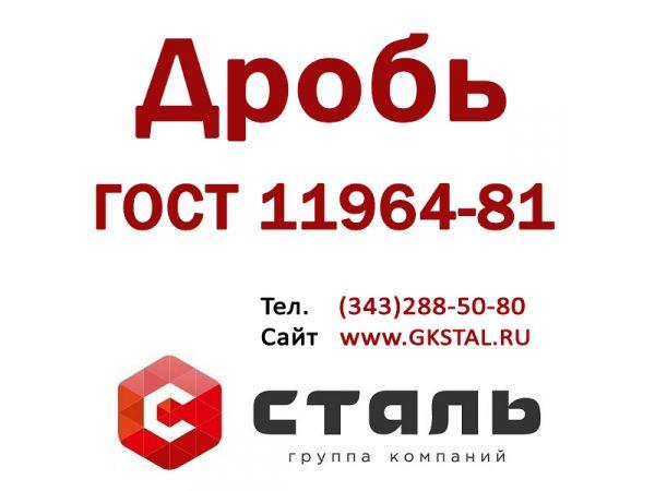 Дробь стальная  литая ДСЛ ГОСТ 11964-81. Любые фракции