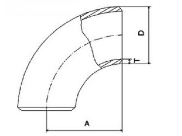 Отвод крутоизогнутый 90 гр DIN 2605