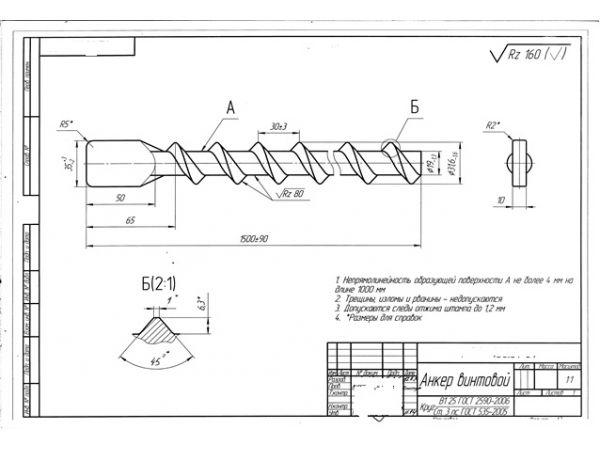 Линия для производства винтового анкера (крепи)