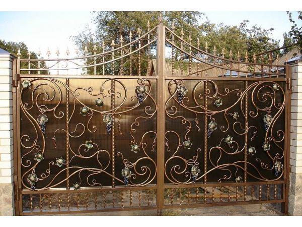 Кованые ворота Кузнечный цех Династия