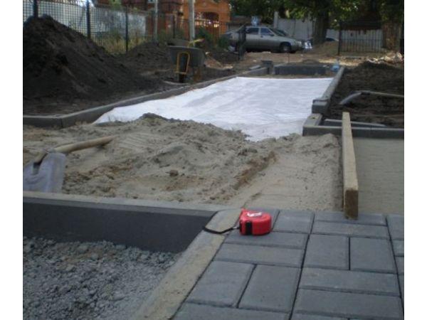 Геотекстиль для укладки тротуарной плитки