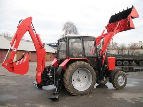 Экскаватор-бульдозер-погрузчик ЭБП-9 на базе трактора Беларус МТЗ-82.1