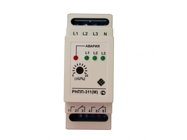 Реле напряжения трёхфазное рнпп311(M), монитор напряжения РНПП-311M