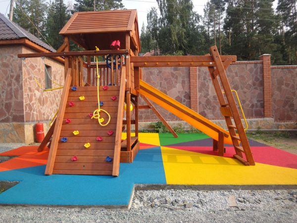 Мягкое покрытие детской площадки своими руками