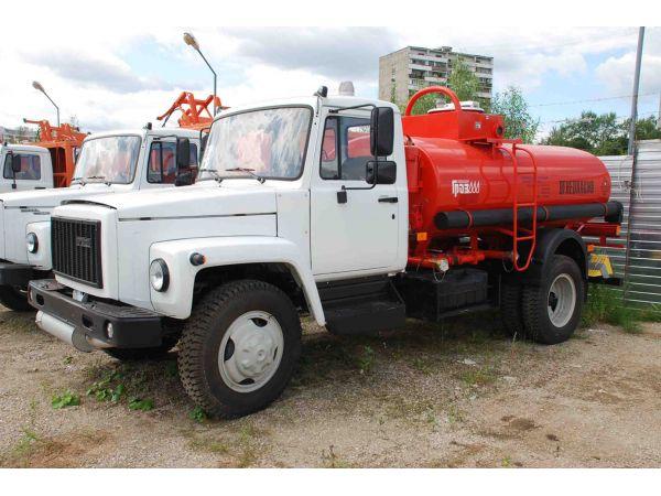 Топливозаправщик АТЗ-4.9 на шасси ГАЗ 3309 (новый бензовоз)