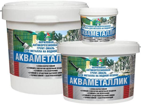 Антикоррозионная акриловая грунт-эмаль для металла «Акваметаллик»