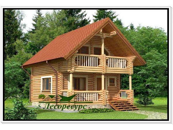 Срубы домов из бревна