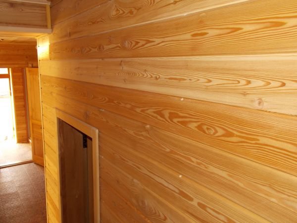Имитация бруса из сибирской лиственницы сорт А 21мм*140мм от производи