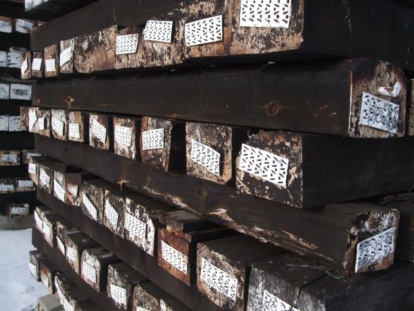 Шпалы деревянные пропитанные 1 и 2 типа с хранения
