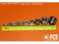 Корончатая гайка ГОСТ 5918-73