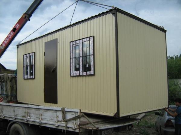 Строительный вагончик бытовка Стандарт 6х2,4 м