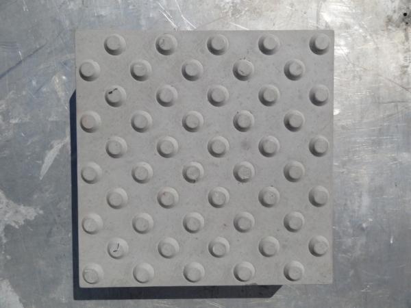 Тактильная плитка для улицы конусообразные рифы 50х50х5