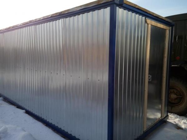 металлические бытовки (блок контейнеры) 4.0 вагонка
