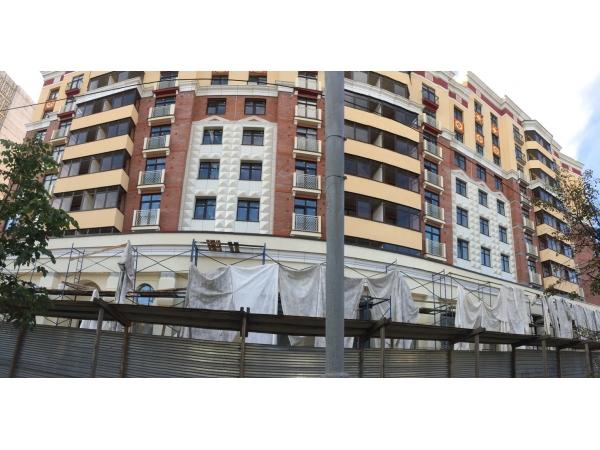 Монтаж вентилируемого фасада с межэтажной системой крепления. Облицовк