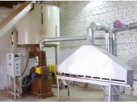 Пресс для переработки опилок в топливный брикет