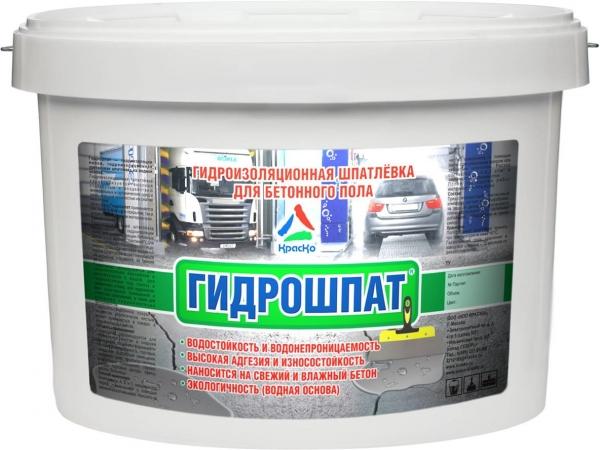 Гидрошпат - гидроизоляционная шпатлёвка для бетонного пола