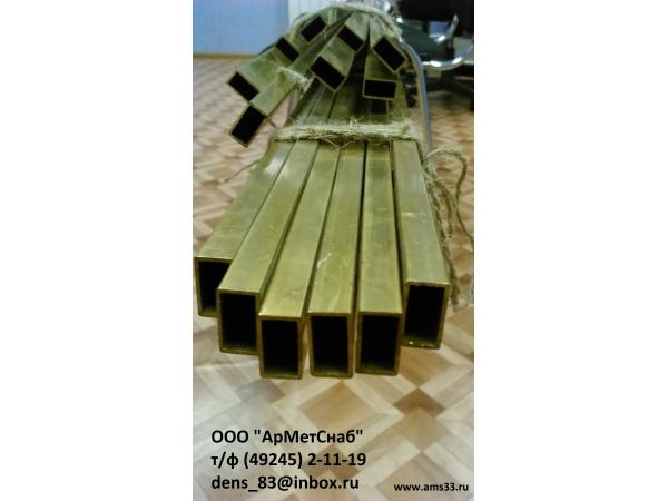 ЛАТУННАЯ ПРЯМОУГОЛЬНАЯ ТРУБА для волноводов Л63, Л96 ГОСТ20900-75