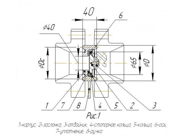 Клапан обратный фланцевый КО 2-65-21