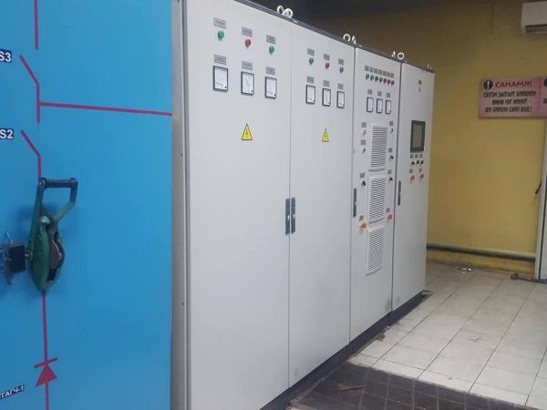 Щит контроля водорода и кислорода в воздухе (Автоматика электролиза)