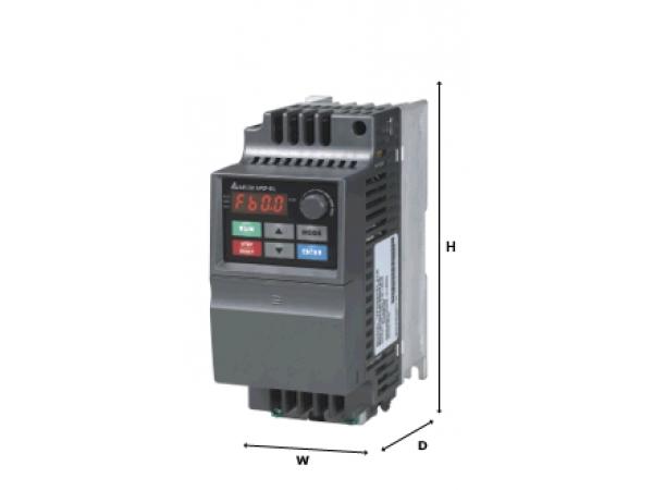 Преобразователь частоты Delta VFD002EL21A (0.2кВт, 220В) общепромыш.