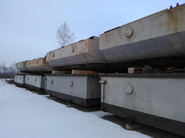 Понтонно-мостовая переправа с хранения